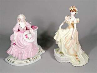 Two Coalport figures from the English Rose Collecti