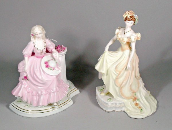 1C: Two Coalport figures from the English Rose Collecti