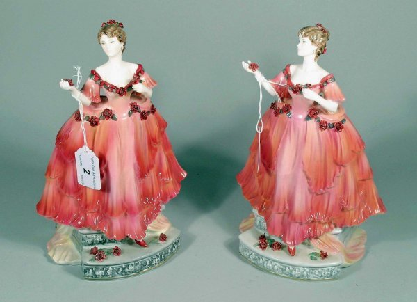 2C: Two Coalport figures from the English Rose Collecti