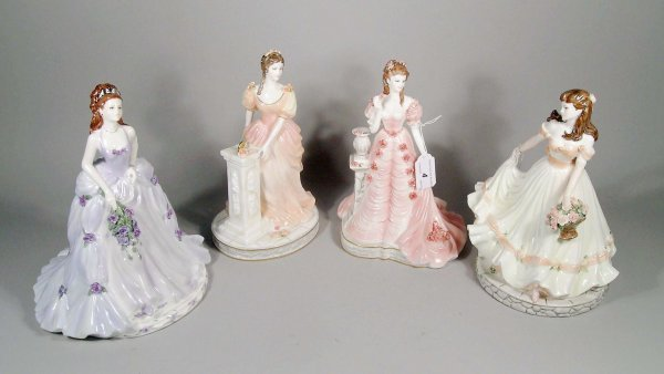4C: Four Coalport figures from the English Rose Collect