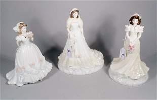 Three Coalport Wedding figures, to include; For You