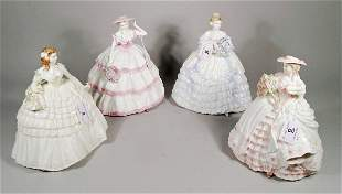 Four Coalport for Compton & Woodhouse Four Flowers