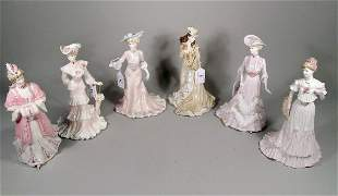 Six Coalport for Compton and Woodhouse figures fro