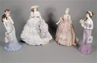 Four Coalport figures to include; Lily from the Fl