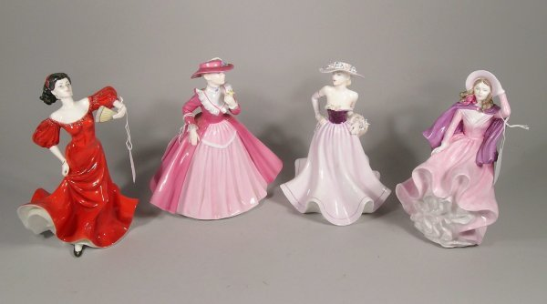15C: Four Coalport figures from the Lady's of Fashion c