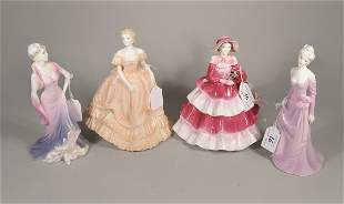 Four Coalport Lady's of Fashion figures to include