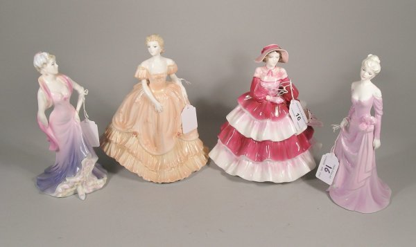 16C: Four Coalport Lady's of Fashion figures to include