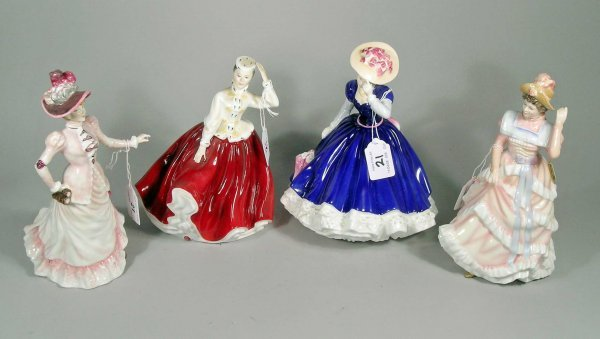 21C: Four Royal Doulton figures to include; Mary, HN337