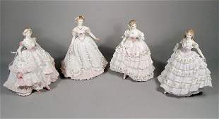 Four Royal Worcester figures from the Victorian Er