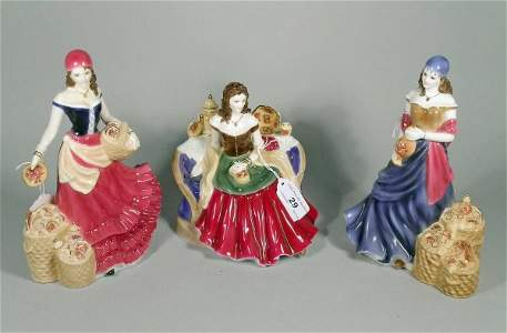 29C: Three Royal Worcester figures to include; Fruitsel