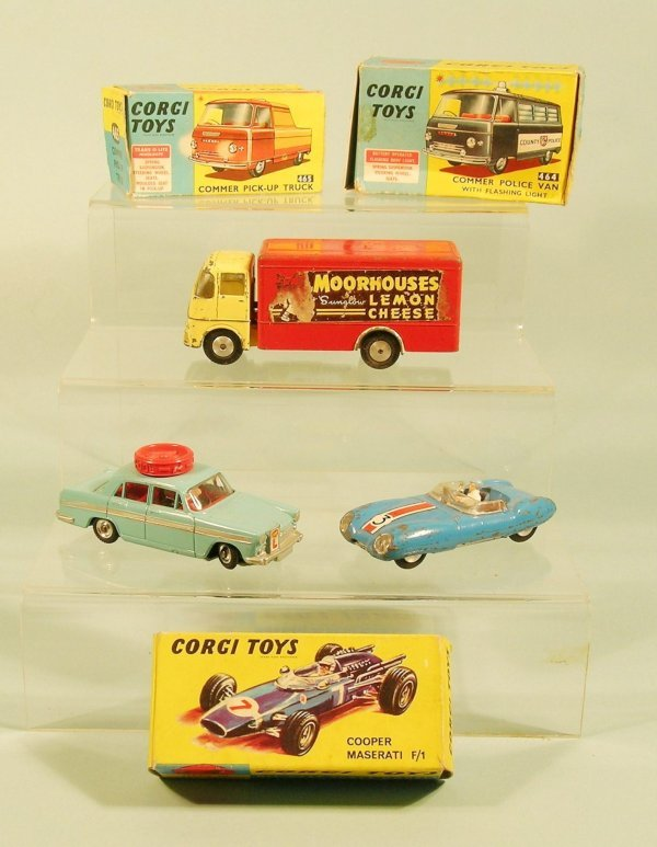 8D: A group of six Corgi toys dating from the 1960s, to