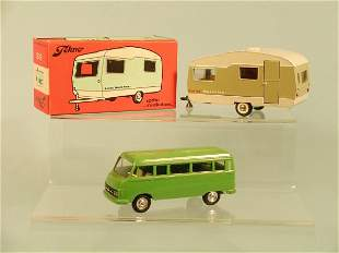 A 1960s Tekno Sprite Muscateer caravan in original