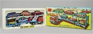 A Corgi gift set No.41, Corgi car transporter and