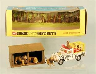 A boxed Corgi gift set No.8 Lions of Longleat, the