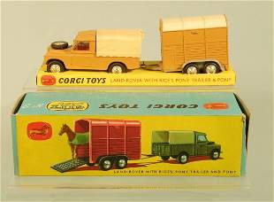 A Corgi gift set No.2 containing a Land Rover in a
