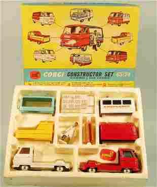 A boxed Corgi Constructors Set No.24 the contents