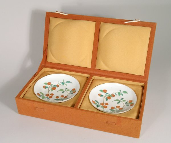 2B: A pair of Chinese porcelain saucers,Republic period