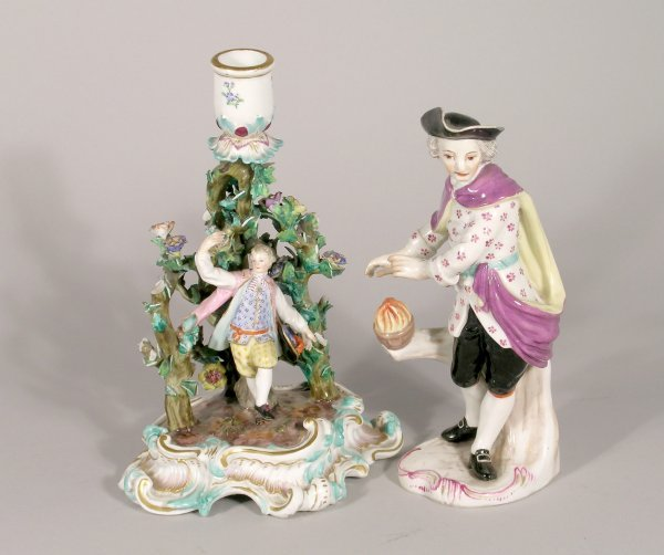 17B: A Meissen figural candlestick, late 19th century a