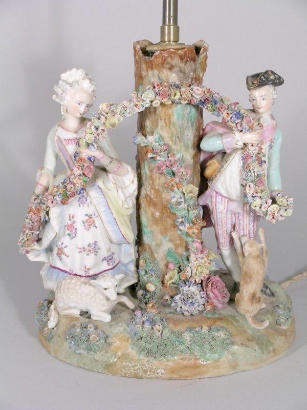 18B: A Paris porcelain polychrome figural candelabrum b
