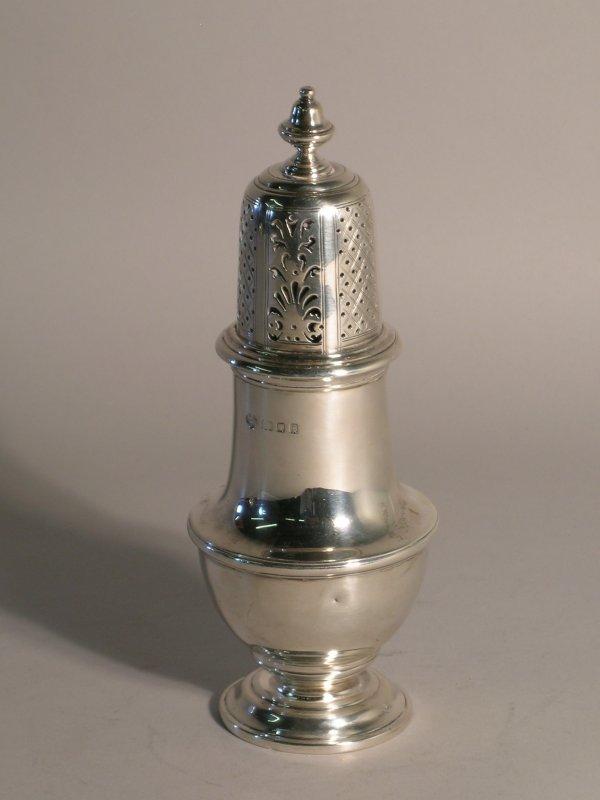 19C: A silver sugar caster Goldsmiths and Silversmiths