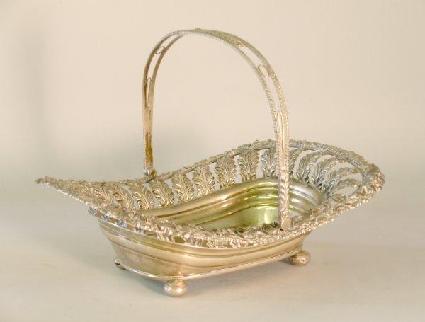 23C: A silver basket 'T & I S' Sheffield 1820, of lozen