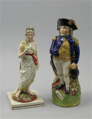A Staffordshire pearl ware figure of 'Peace' early