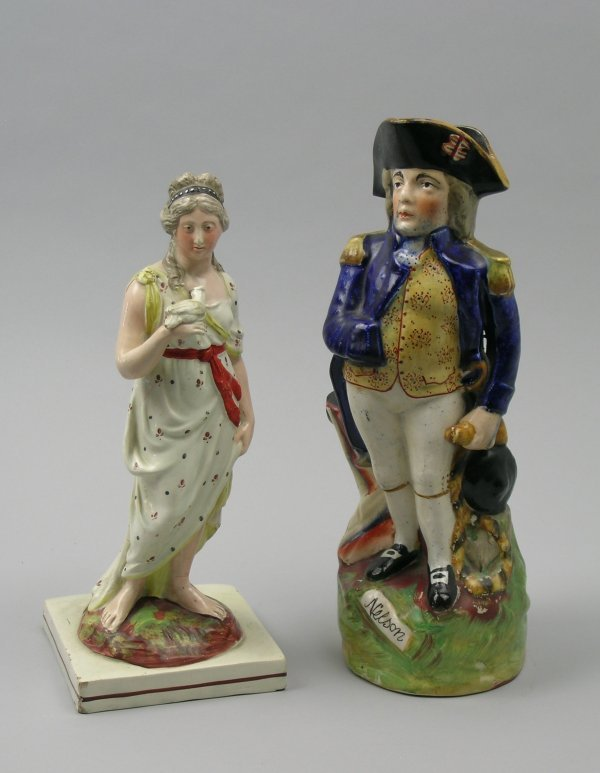 8B: A Staffordshire pearl ware figure of 'Peace' early