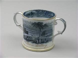 An A T Godwin Crystal Palace frog mug, mid 19th ce