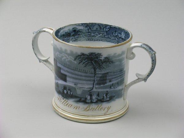 16B: An A T Godwin Crystal Palace frog mug, mid 19th ce