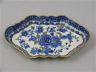 A Caughley blue and white porcelain spoon tray, ci