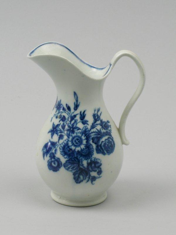 24B: A Caughley blue and white porcelain milk jug of ba