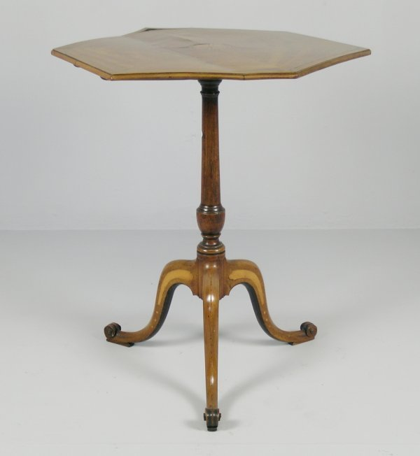 176B: A Geo III hexagonal pedestal occasional table,