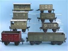 16C: A group of 8 Pre-War Bassett-Lowke Freight Wagons