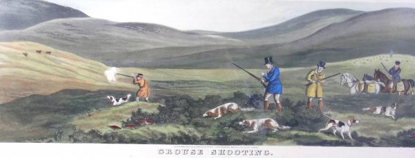1D: After Henry Alken  'Partridge Shooting',  hand colo