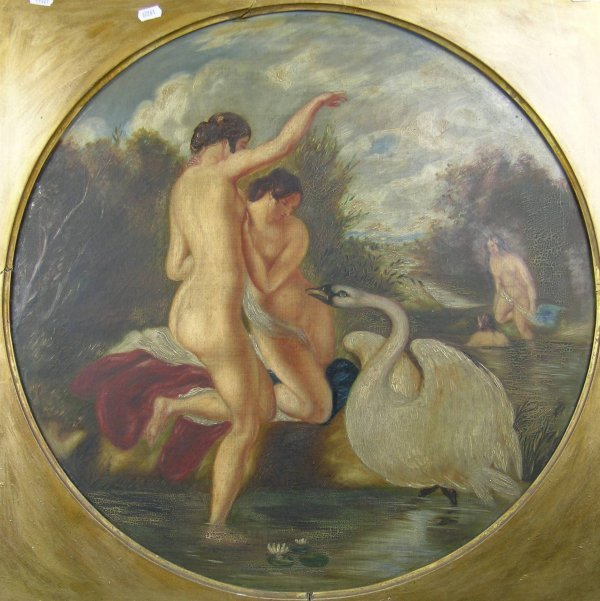 21D: After William Etty 'Leda and the Swan', oil on can