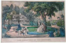 103D Currier and Ives pub  The Pleasures of the Co