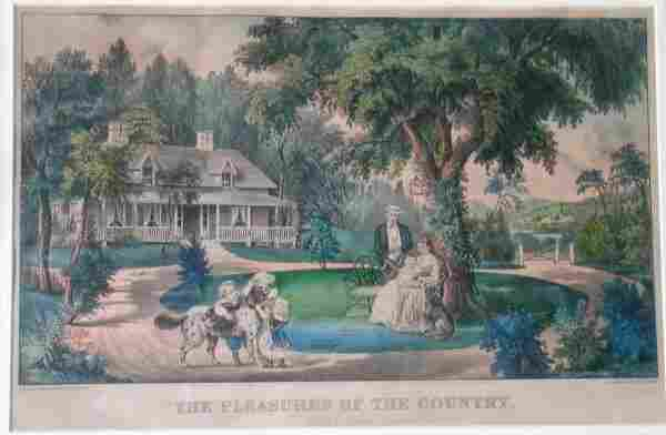 103D: Currier and Ives (pub.)  'The Pleasures of the Co