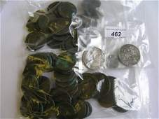 462D A quantity of silver and copper coins to include