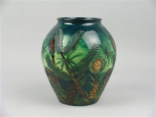 591D: A Moorcroft Amazon Twilight pattern ovoid vase, b