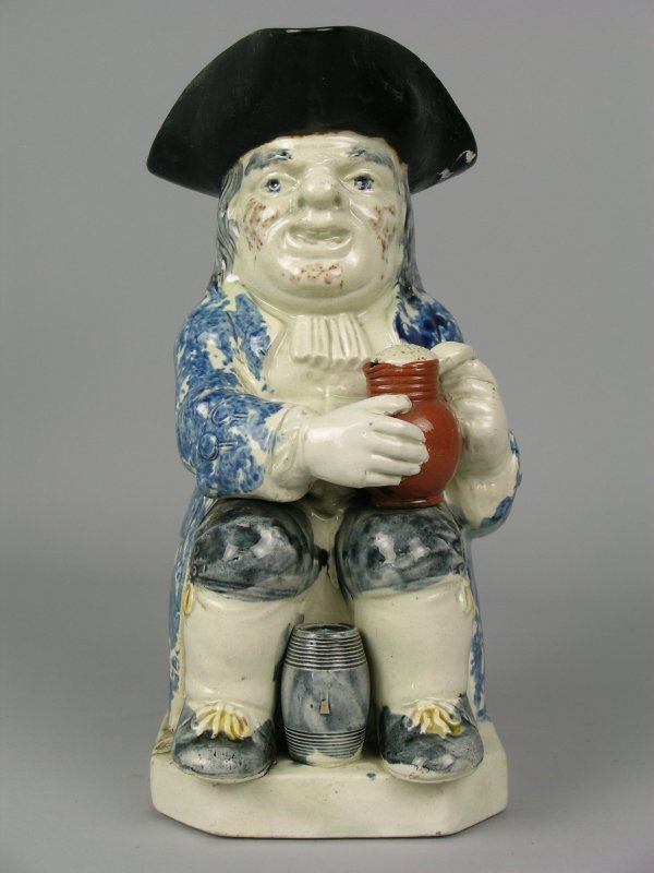 16E: A Ralph Wood type toby jug, early 19th century, mo