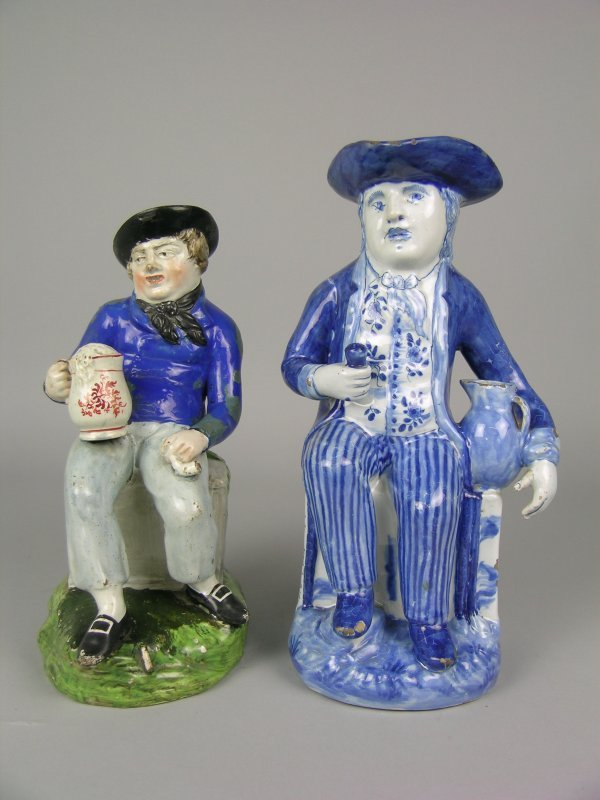 24E: An American sailor style pearl ware toby jug, earl