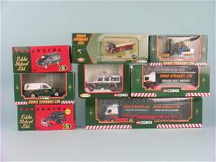 A collection of approximately fourteen models in th