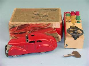 A boxed Schuco Tele Steering car, dating from the 1
