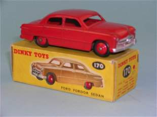 A boxed Dinky Toys No.170 Ford Fordor Sedan in red