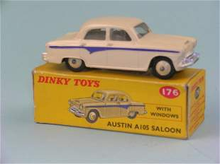 A boxed Dinky Toys No.176 Austin A105 Saloon, the m