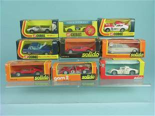 A mixed group of boxed Corgi and Solido items, a Co
