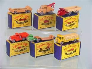 A group of six boxed Moko Lesney vehicles, a No. 1