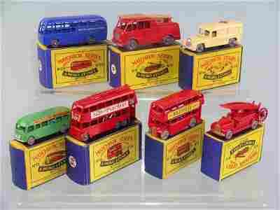 17B: A group of seven boxed Moko Lesney miniatures, mod