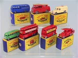 A group of seven boxed Moko Lesney miniatures, mod