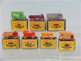 A group of seven boxed Moko Lesney vehicles to inc